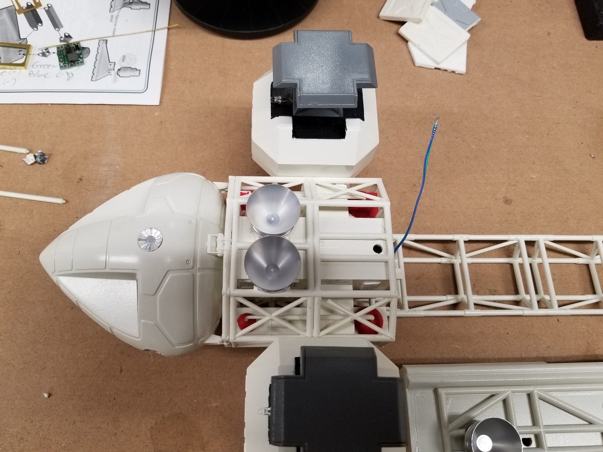 Custom build space shuttle Space 1999 22″ Eagle Transporter