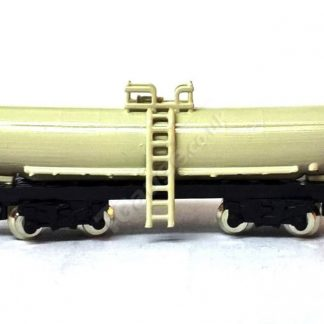 T Gauge Double Bogie Tanker Wagon in Cream