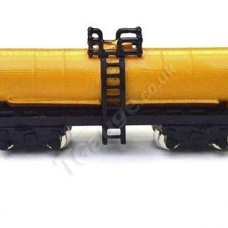 T Gauge Double Bogie Tanker Wagon Yellow