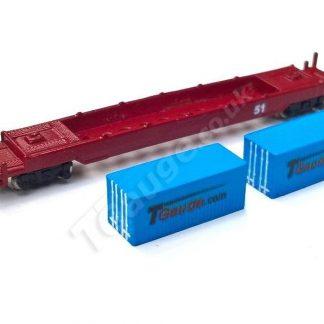 T Gauge Blue Container Wagon Set