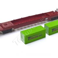 T Gauge Container Wagon Set (Green)