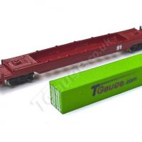T Gauge Green 40' Container and Wagon Set