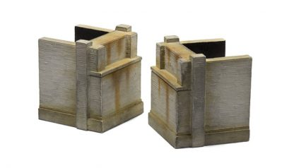 Poured Concrete Bridge Abutments ZTR-101 6 Piece Set