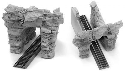 Gray Z Scale Blasted Rock Portal Set