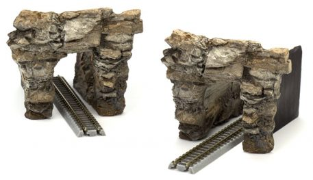 Z Scale Blasted Rock Portal Set