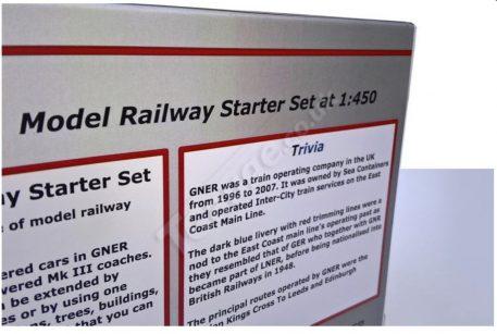 T Gauge GNER Inter-City 125 HST Starter Set Model Railway