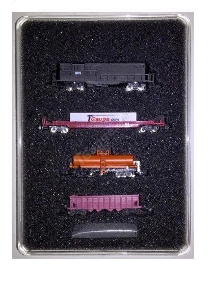 EMD GP8 Black US Freight Train Set Cars