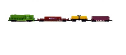 EMD GP8 Green US Freight Train Car Set 132mm