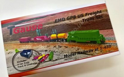 EMD GP8 Green US Freight Train Set 132mm