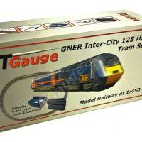 T Gauge GNER Inter-City 125 HST Model Railway Starter Set