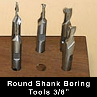 "Round Shank Boring Tools - 3/8"""