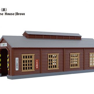 Rokuhan S051-2 Wood Engine House Single Stall (Light Brown)