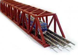 t gauge Red truss bridge 160mm