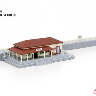 Rokuhan S047-2 Train Station (Red) Set