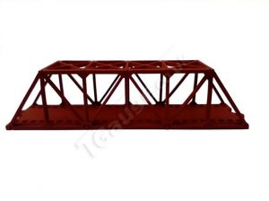 T Gauge Truss Bridge Short in Red TB-003