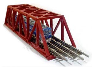 T Gauge Truss Bridge Short in Red Tb-003 RED