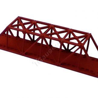 T Gauge Truss Bridge Short in Red