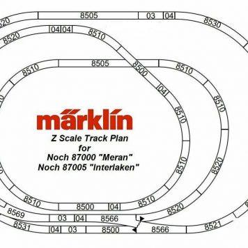 "Rokuhan Layout Plan ""Meran"" Standard Configuration Complete Track Set"