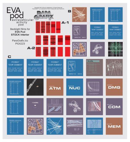 Paragrafix 1/8 Scale EVA Pod Buttons Label Decals PGX223