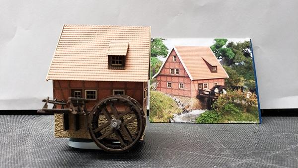 N Scale Water Wheel House