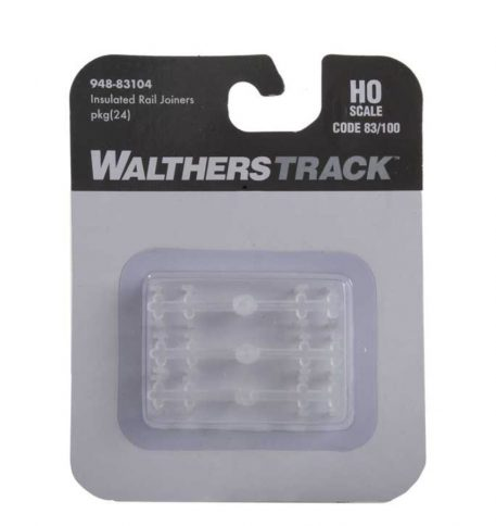 Walthers HO Scale Code 83 or 100 Insulated Rail Joiners pkg(24) 83104