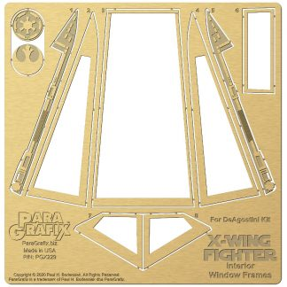 Paragrafix Internal Window Frames for DeAgostini X-Wing PGX229