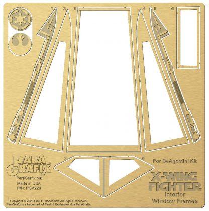Paragrafix Internal Window Frames for DeAgostini X-Wing PGX229