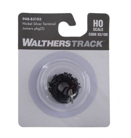 Walthers HO Scale Code 83 or 100 Nickel Silver Terminal Joiners pkg(2)