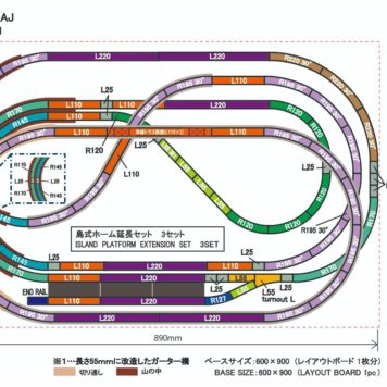 Rokuhan Layout Plan AJ Complete Track Set (35 Inch x 22.4 Inch)