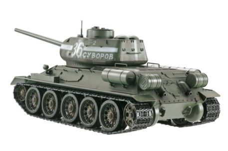 Taigen Tanks 1/16 Russian T-34/85 Green Metal Edition Airsoft 13030 Side Top