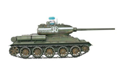 Taigen Tanks 1/16 Russian T-34/85 Green Metal Edition Infrared 13031 F SIde