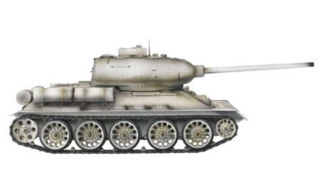 Taigen Tanks 1/16 Russian T-34/85 White Metal Edition Airsoft 13032 Side
