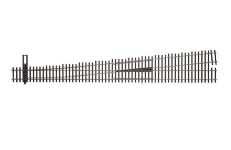 Walthers HO Scale Nickel Silver Number 10 Turnout Track, LH, Code 83, DCC Friendly 83021