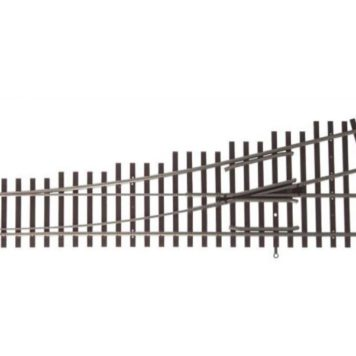 Walthers HO Scale Nickel Silver Number 4 Turnout Track, LH, Code 83, DCC Friendly 83013