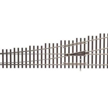 Walthers HO Scale Nickel Silver Number 6 Turnout Track, LH, Code 83, DCC Friendly 83017
