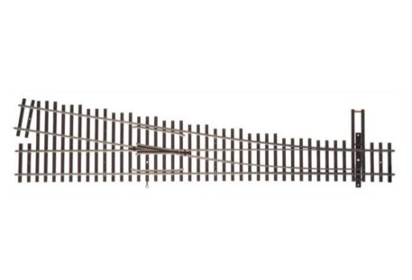 Walthers HO Scale Nickel Silver Number 6 Turnout Track, RH, Code 83, DCC Friendly 83018