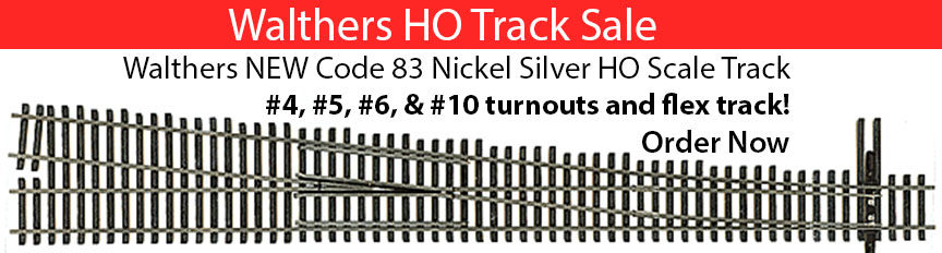 walthers ho track code 83 turnouts and track