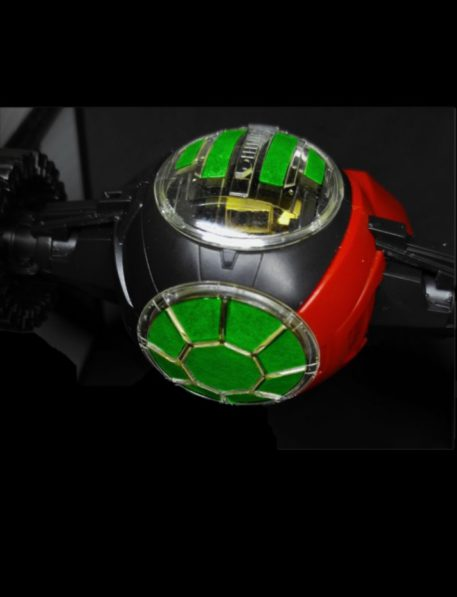 Green Strawberry 1/72 Star Wars First Order Special Forces Tie Starfighter Mask for BANDAI AM5