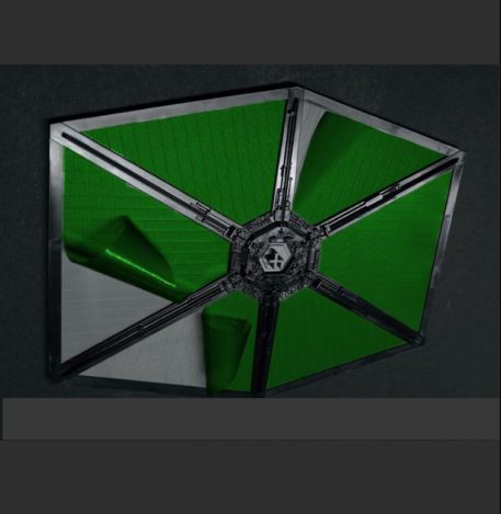 Green Strawberry 1/72 Star Wars First Order Tie Starfighter Painting Mask for BANDAI Side