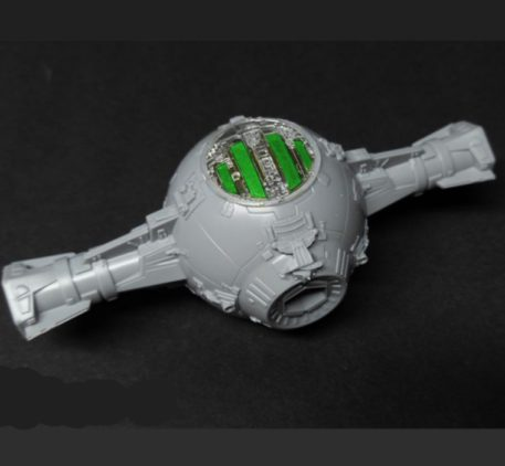 Green Strawberry 1/72 Star Wars Tie Starfighter Painting Mask for BANDAI Top View