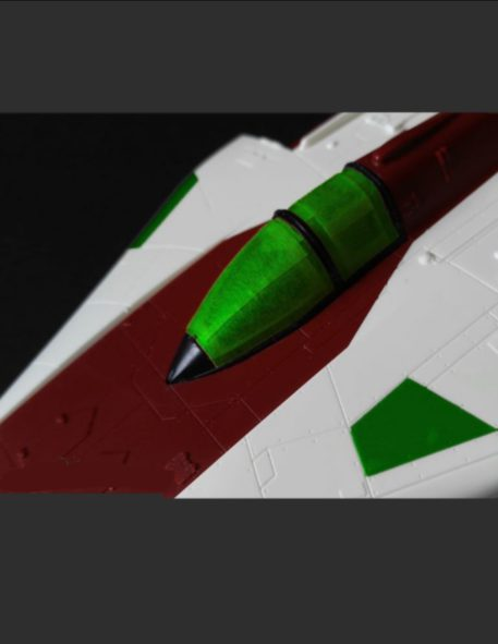 Green Strawberry 1/72 Star Wars A-Wing Starfighter Mask for BANDAI GSW-AM7 Side View