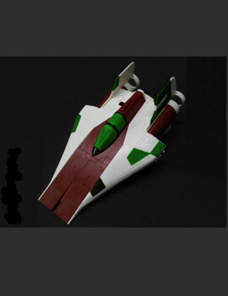 Green Strawberry 1/72 Star Wars A-Wing Starfighter Mask for BANDAI GSW-AM7 Top View