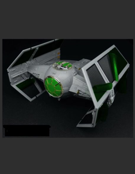 Green Strawberry 1/72 Star Wars Tie Advanced x1 Starfighter Mask for BANDAI GSW-AM8 Top View